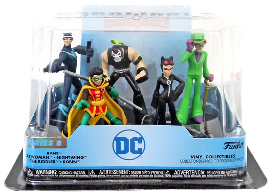 Funko DC Hero World Series 8 Bane, Catwoman, Nightwing, The Riddler & Robin Exclusive 4-Inch Vinyl Figure 5-Pack