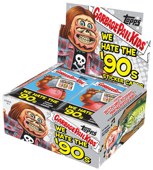 Garbage Pail Kids Topps 2019 We Hate the '90s Trading Card Sticker RETAIL Box [24 Packs]
