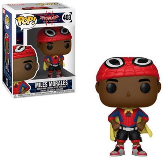 Funko Spider-Man Into the Spider-Verse POP! Marvel Miles Morales Vinyl Bobble Head #403 [Caped]