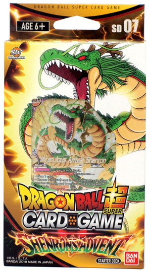 Dragon Ball Super Collectible Card Game Miraculous Revival Series 5 Shenron's Advent Starter Deck DBS-SD07 [Black]