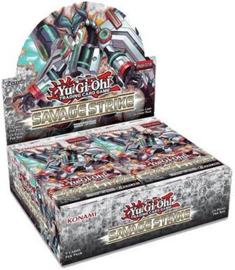 YuGiOh Trading Card Game Savage Strike Booster Box [24 Packs]