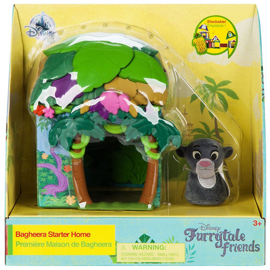 Disney The Jungle Book Furrytale Friends Bagheera Starter Home Exclusive Playset