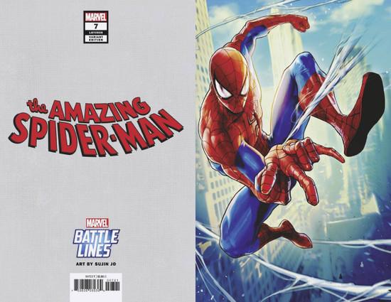 Marvel Comics Amazing Spider-Man #7 Comic Book [Sujin Jo Marvel Battle Lines Variant Cover]
