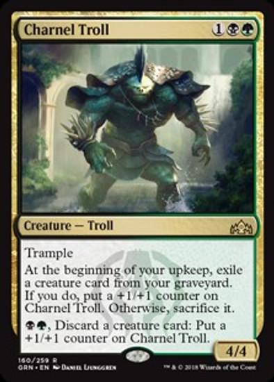 MtG Guilds of Ravnica Rare Charnel Troll #160