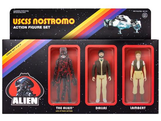 ReAction Dallas, Lambert & Bloody Xenomorph Alien Action Figure 3-Pack