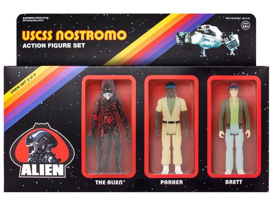 ReAction Parker, Brett & Bloody Xenomorph Alien Action Figure 3-Pack