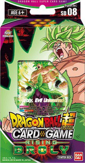 Dragon Ball Super Collectible Card Game Destroyer Kings Series 6 Rising Broly Starter Deck DBS-SD08