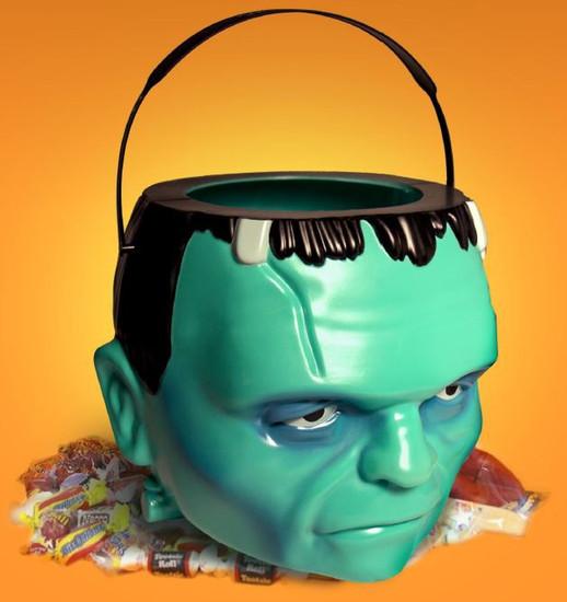 Super Bucket Universal Monsters Frankenstein's Monster 7-Inch Halloween Treat Bucket