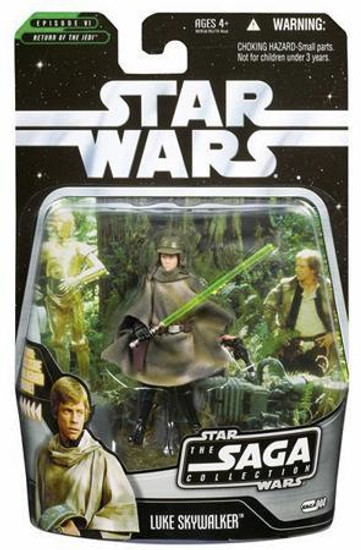 Star Wars Return of the Jedi 2006 Saga Collection Luke Skywalker Action Figure #44 [Endor]