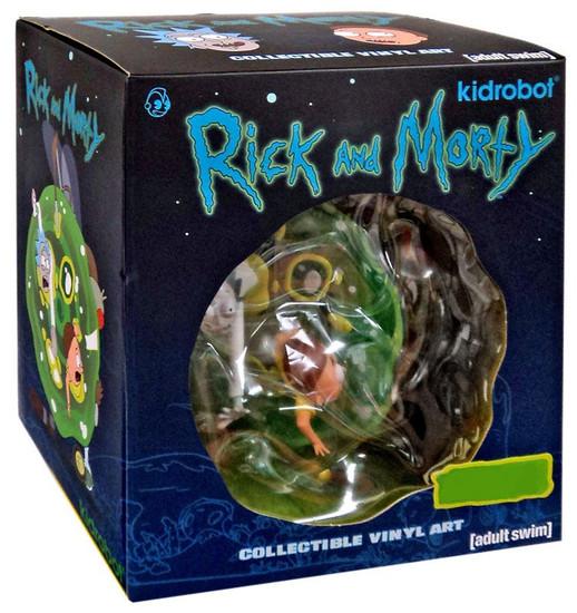 Collectible Vinyl Art Rick & Morty Exclusive 7-Inch Medium Vinyl Figure [Flocked / Metallic Gromflamite]