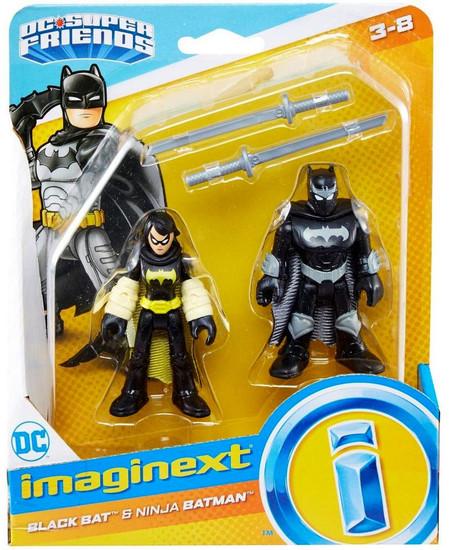 Fisher Price DC Super Friends Imaginext Black Bat & Ninja Batman Figure Set