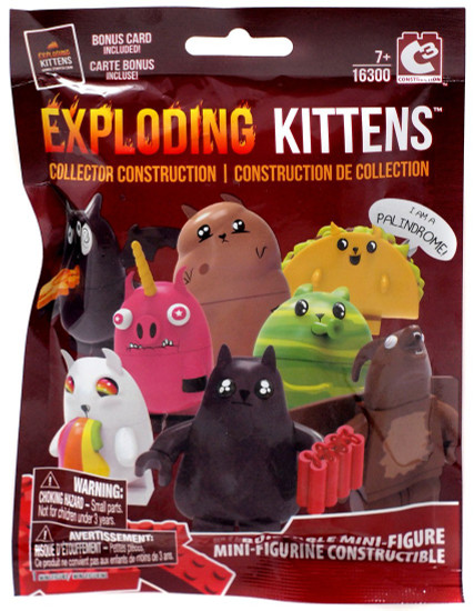 Exploding Kittens C3 Construction Buildable Mini-Figure Mystery Pack #16300