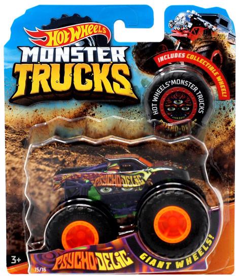 Hot Wheels Monster Trucks Psychodelic Diecast Car