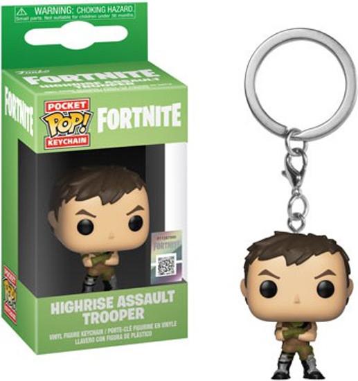 Funko Fortnite Pocket POP! Games Highrise Assault Trooper Keychain