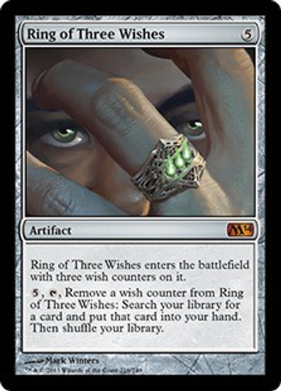 MtG 2014 Core Set Mythic Rare Foil Ring of Three Wishes #216