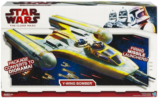 Star Wars The Clone Wars 2009 Y-Wing Bomber Action Figure Vehicle