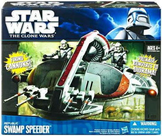 Star Wars The Clone Wars 2010 Republic Swamp Speeder 3.75-Inch Vehicle