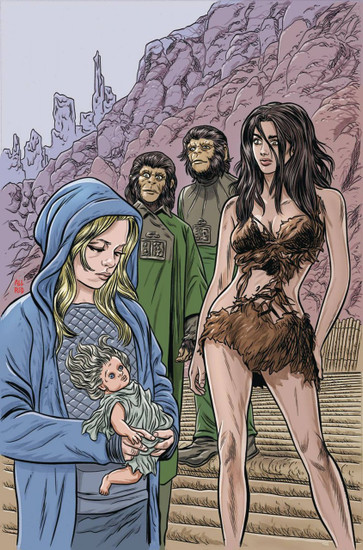 Boom Studios Planet of The Apes #1 Time of Man Comic Book [Allred Virgin Variant Cover]