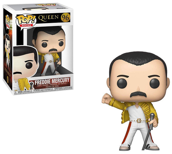 Funko Queen POP! Rocks Freddie Mercury Vinyl Figure #96 [1986 Wembley Stadium]