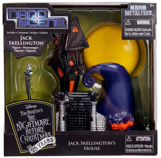 Disney Nightmare Before Christmas Nano Metalfigs Jack Skellingtons House 1.5-Inch Figure Set