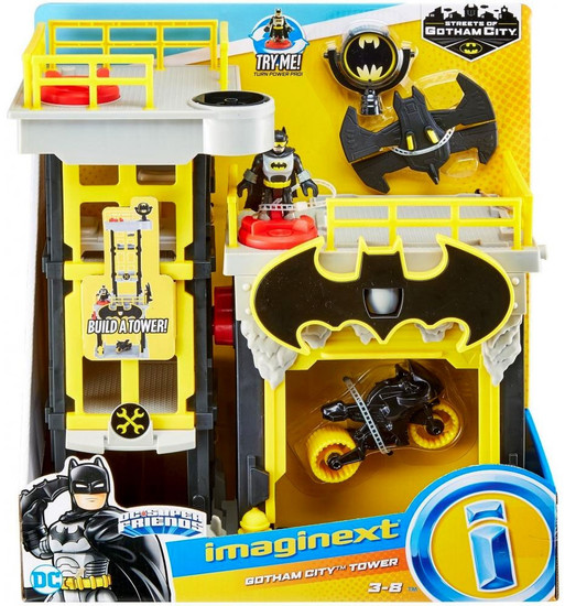 Fisher Price DC Super Friends Imaginext Gotham City Tower Playset [2018]
