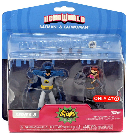 Funko DC Teen Titans Go! Hero World Series 3 Batman & Catwoman Exclusive 4-Inch Vinyl Figure 2-Pack [Batusi]