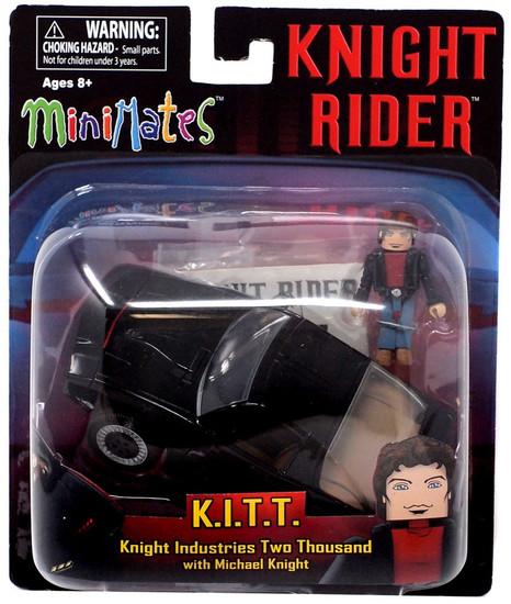Knight Rider Minimates K.I.T.T. with Michael Knight Vehicle & Minifigure