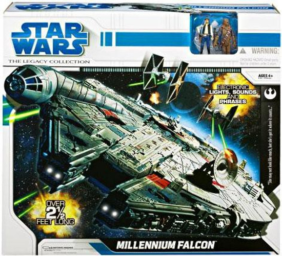 Star Wars A New Hope 2008 Legacy Collection Millennium Falcon Exclusive Action Figure Vehicle