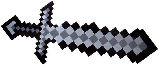 8-Bit Pixel Sword [Black]