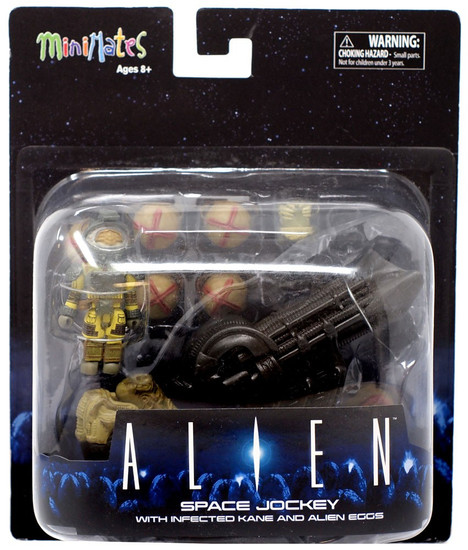 Alien Minimates Space Jockey 2-Inch Minifigure Deluxe Set [with Infected Kane & Alien Eggs]