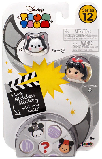 Disney Tsum Tsum Series 12 Figaro & Snow White 1-Inch Minifigure 3-Pack