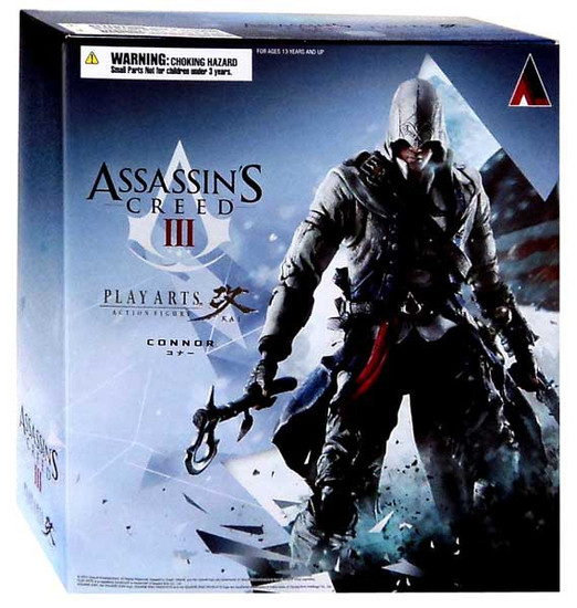 Assassin's Creed III Liberation Play Arts Kai Connor Exclusive Action Figure [Damaged Package]