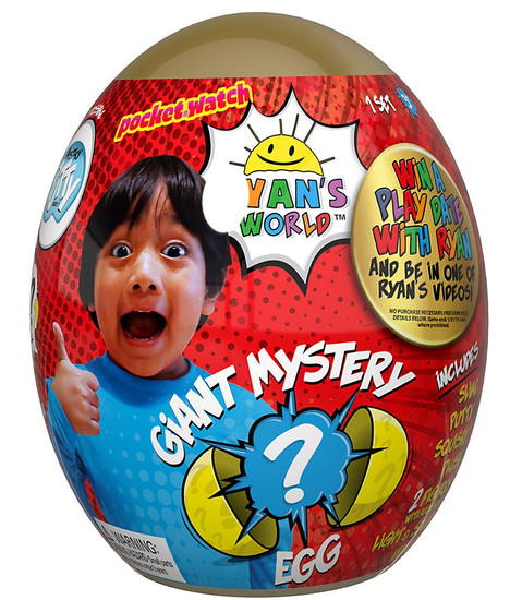 Ryan's World Giant Egg Exclusive Mystery Surprise [GOLD]