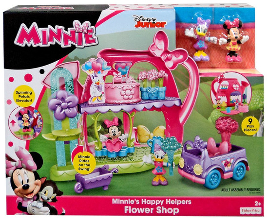Fisher Price Disney Minnie Mouse Minnie's Happy Helpers Flower Shop Playset [Damaged Package]