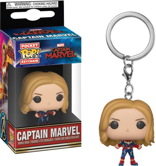 Funko POP! Marvel Captain Marvel Keychain [No Helmet]