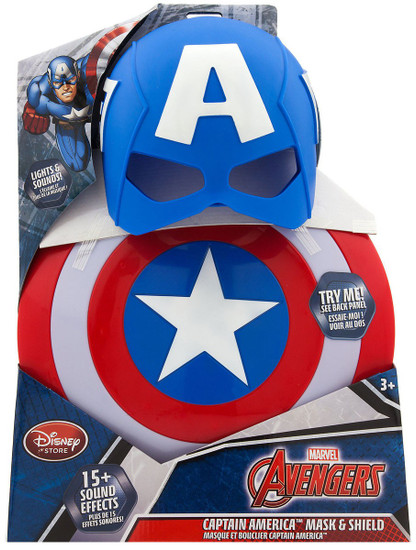 Disney Marvel Avengers Captain America Mask & Shield Exclusive Roleplay Toy