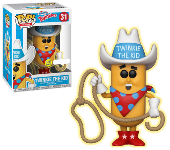 Funko Hostess POP! Ad Icons Twinkie the Kid Exclusive Vinyl Figure #31 [White Hat, Glow-in-the-Dark, Damaged Package]