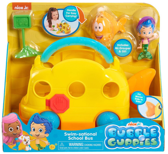 Bubble Guppies Swim-Sational School Bus Vehicle Set