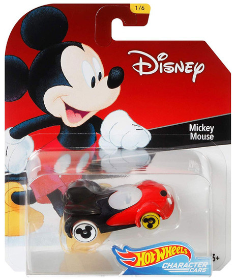 Disney Hot Wheels Character Cars Mickey Mouse Die Cast Car #1/6
