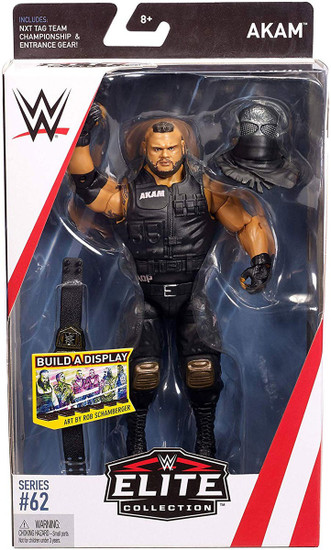 WWE Wrestling Elite Collection Series 62 Akam Action Figure [NXT Tag Team Championship & Entrance Gear]
