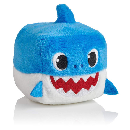 Pinkfong Baby Shark Daddy Shark Plush Cube with Sound [Blue]