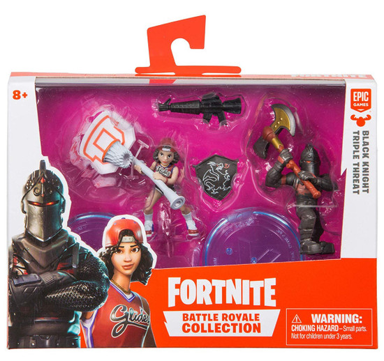 Fortnite Epic Games Battle Royale Collection Black Knight & Triple Threat 2-Inch Mini Figure 2-Pack