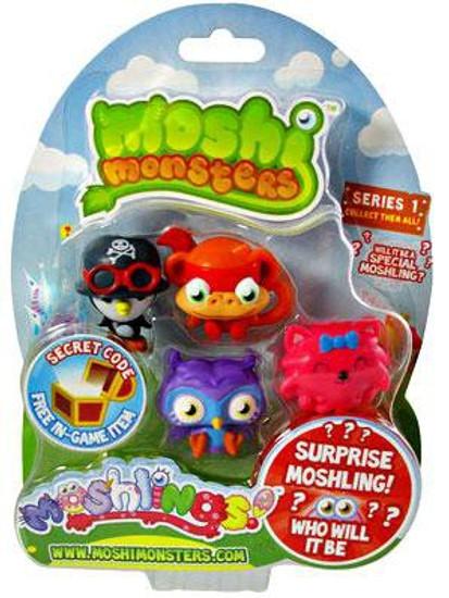 Moshi Monsters Moshlings Series 1 Mini Figure 5-Pack [Damaged Package]