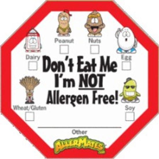 AllerMates Allergen Alert Labels for Food Packages 24 Pack Labels