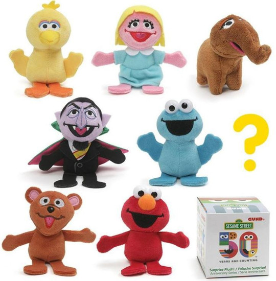Sesame Street 50th Anniversary Surprise Mini Plush Mystery Box [24 Packs]