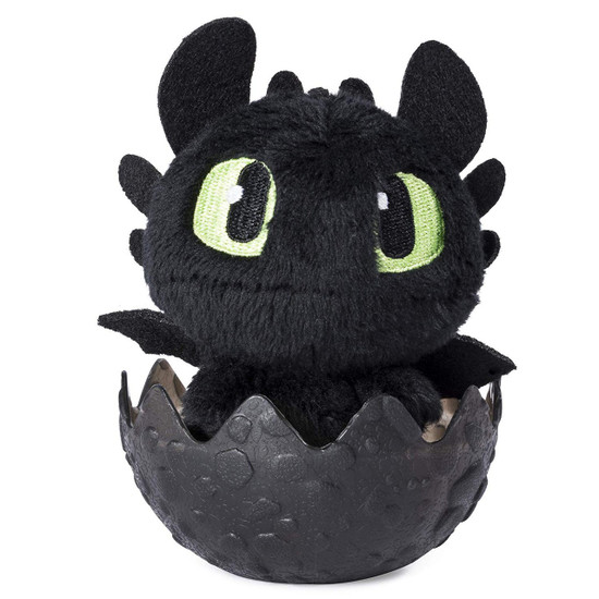 How to Train Your Dragon The Hidden World Toothless 3-Inch Egg Plush [Black]