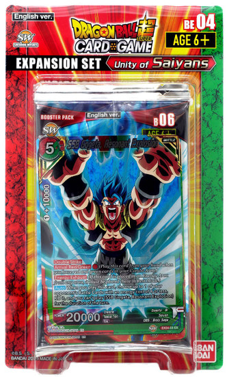 Dragon Ball Super Collectible Card Game Unity of Saiyans Expansion Set