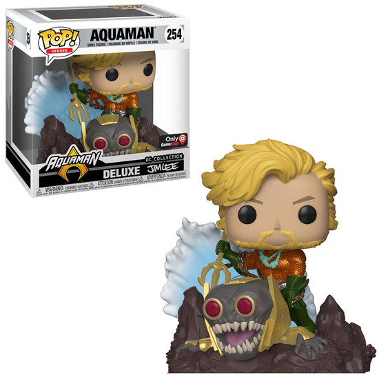 Funko DC Collection by Jim Lee POP! Heroes Aquaman Exclusive Deluxe Vinyl Figure #254