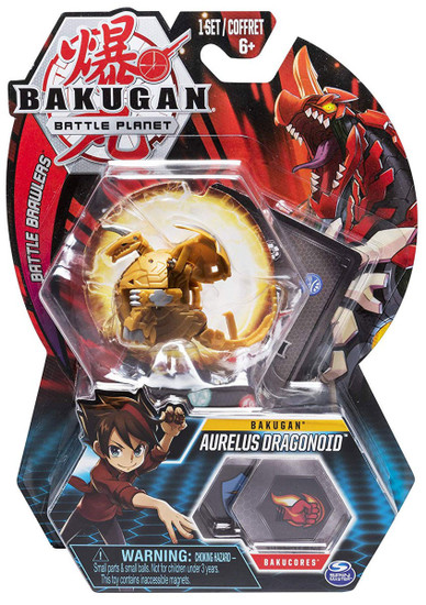 Bakugan Battle Planet Battle Brawlers Bakugan Aurelus Dragonoid
