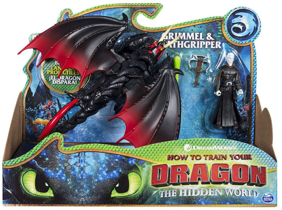 How to Train Your Dragon The Hidden World Grimmel & Deathgripper Action Figure 2-Pack